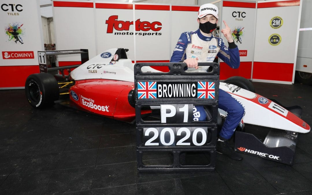 Luke Browning crowning British F4 Champion in dramatic Brands Hatch Finale